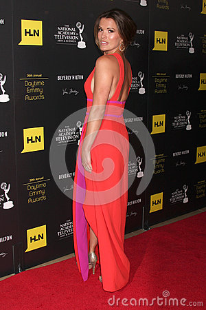 Melissa Claire Egan arrives at the 2012 Daytime Emmy Awards Editorial Stock Photo