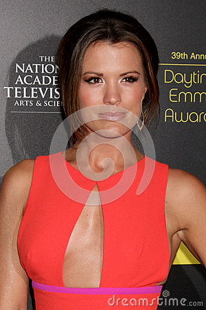 Melissa Claire Egan arrives at the 2012 Daytime Emmy Awards Editorial Photo