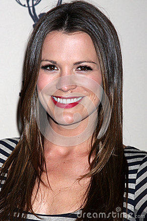 Melissa Claire Egan arrives at the ATAS Daytime Emmy Awards Nominees Reception Editorial Stock Image