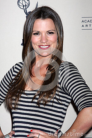 Melissa Claire Egan arrives at the ATAS Daytime Emmy Awards Nominees Reception Editorial Photography