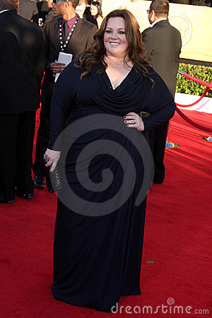 Melissa McCarthy at the 18th Annual Screen Actors Guild Awards Arrivals, Shrine Auditorium, Los Angeles, CA 01-29-12 Editorial Stock Photo