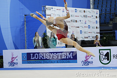 Melitina Staniouta with clubs Editorial Image