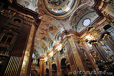 Melk Abbey - the curch -Austria Editorial Stock Photo
