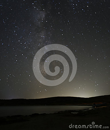 Melkwegsterren bij nacht