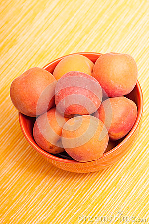Mellow apricots in vertical format