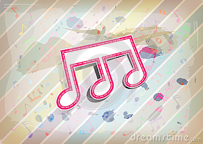Melody note with pastel background