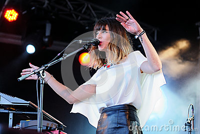 Melody s Echo Chamber band, performs at Heineken Primavera Sound 2013 Festival Editorial Image