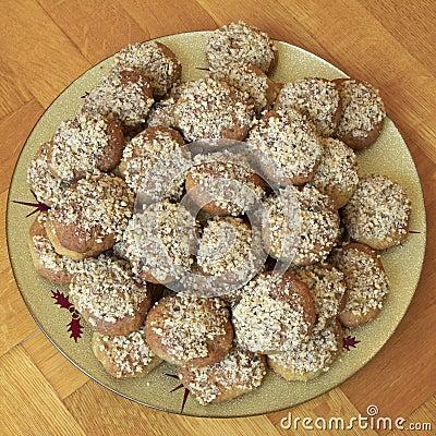 Melomakarona, greek traditional christmas cookies