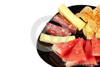Melon with cold meat