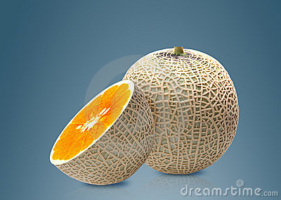 Melon and Orange inside