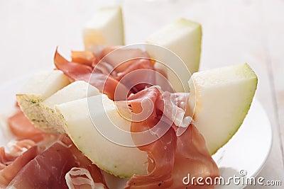 Melon with parma ham