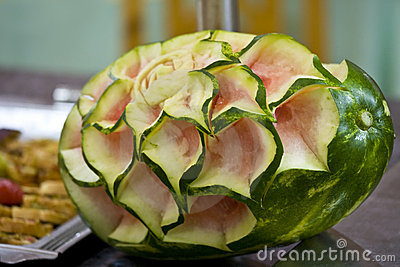 Melon with rose texture
