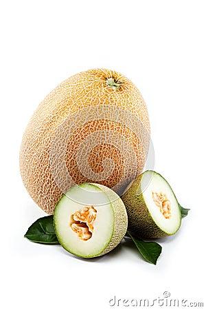 Melon on a white.