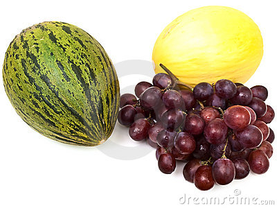 Melons and grape