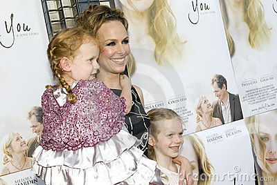 Melora Hardin and daughters Editorial Stock Image