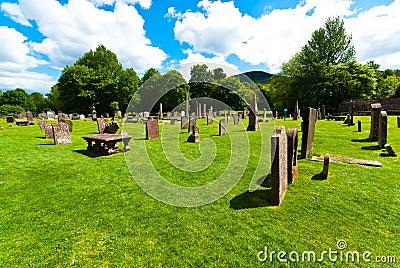 Melrose abbey graveyard
