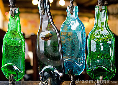Melted bottles