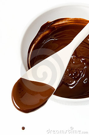 Free Melted Dark Chocolate Dripping From The Spoon Royalty Free Stock Image - 1947506