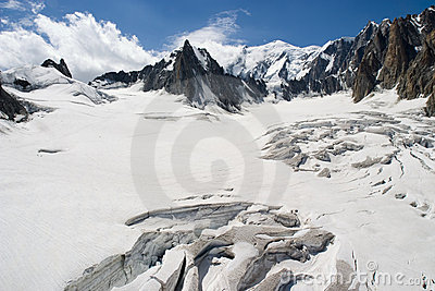 Melting Glacier - Chamonix, France