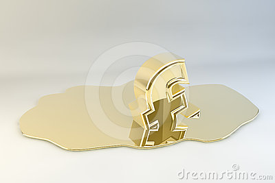 Melting Gold Pound Sign