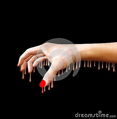 Melting Hand Stock Photography Image 590402