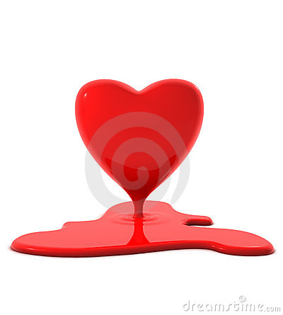 Free Melting Heart Royalty Free Stock Photos - 1621618