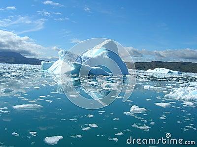 Melting iceberg at the coast of Greenland