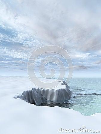 Free Melting Iceberg Winter Sky Royalty Free Stock Image - 7615886