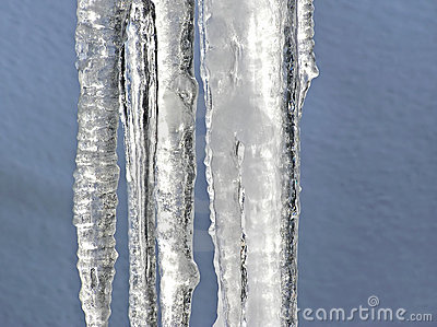 Melting icecles