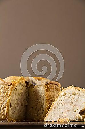 Free Melton Mowbray Pork Pie Low Shot Cut Royalty Free Stock Images - 30794149
