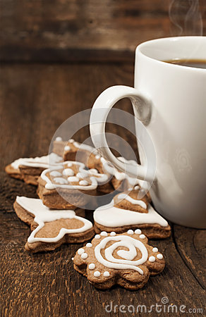 Memade cookies with a cup of coffee