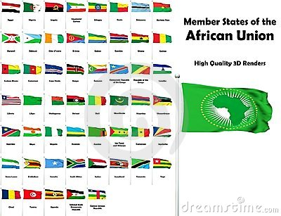 Member states of the African Union