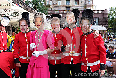Members of The British Royal Family and Queen Editorial Photography