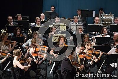 Members of the MAV Orhestra perform Editorial Photo