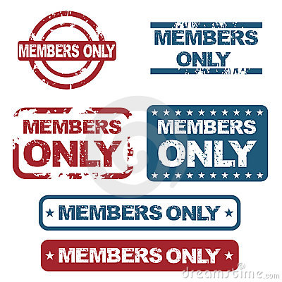 Free Members Only Stamps Stock Photos - 19879793