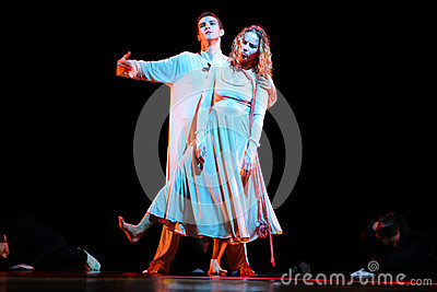 Members of the Yevgeny Panfilov Ballet Studio from Perm perform Romeo and Juliet during IFMC on November 22, 2013 in Vitebsk, Be