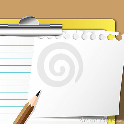 Memo sheet and pencil