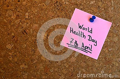Memo: World Health Day Stock Photo