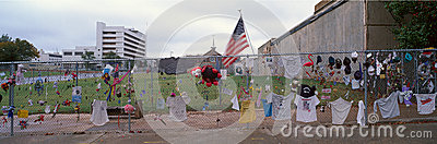 Memorial for 1995 Oklahoma City Bombing Editorial Stock Image