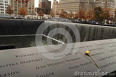 Memorial of 9-11-2001 Editorial Stock Photo