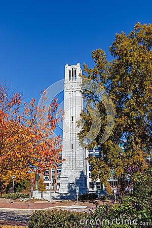 Free Memorial Belltower At NC State University Royalty Free Stock Photos - 105010678