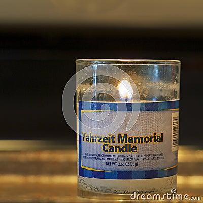Memorial candle square