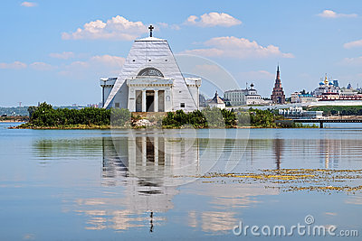 Memorial Church and Kazan Kremlin, Russia