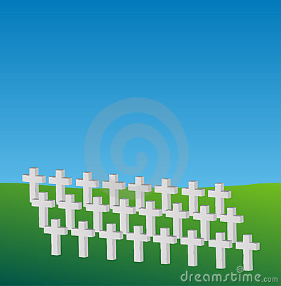 Free Memorial Crosses Royalty Free Stock Photography - 5431097