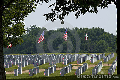 Memorial Day Abraham Lincoln National Cemetery Editorial Stock Image