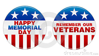 Memorial Day Badge Vector Illustration