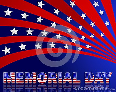 Memorial Day. Beautiful text with the pattern of t