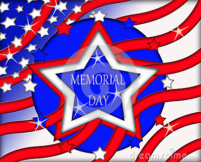 Memorial Day Flag Sign Banner