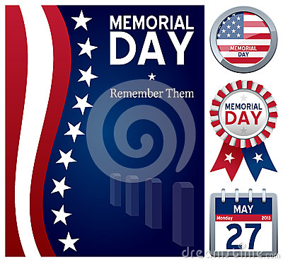 Free Memorial Day Set Stock Photos - 28872573