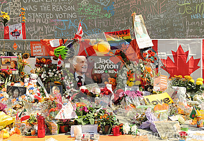 Memorial for Federal NDP Leader Jack Layton Editorial Photo